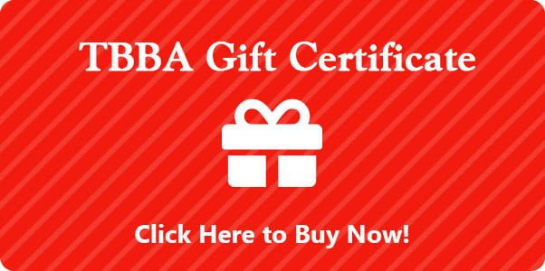 TBBA Gift Certificates